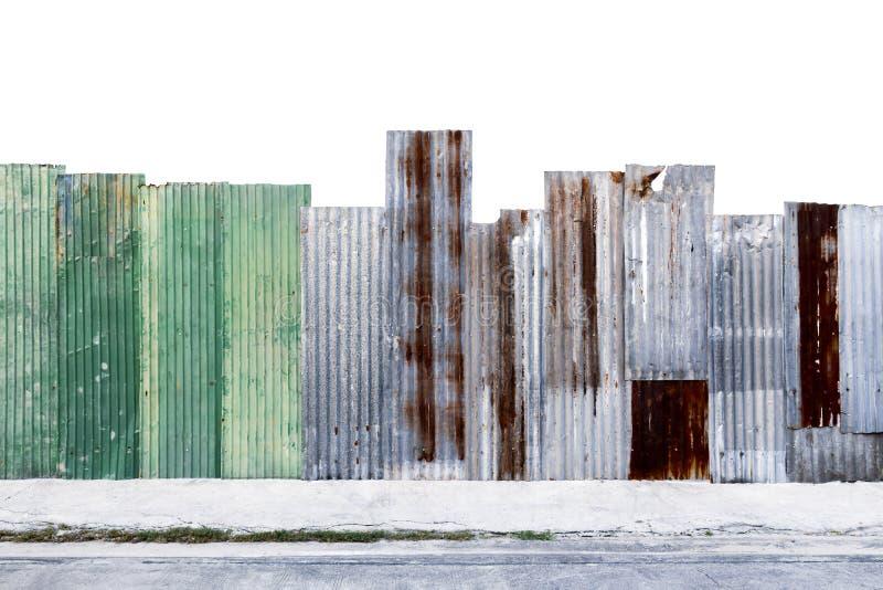 Ośniedziały panwiowy galwanizujący stali żelaza lub ściany metalu prześcieradła surfa zdjęcia stock