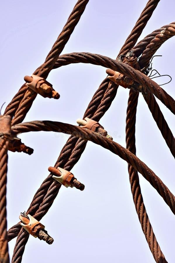 Ośniedziały przemysłowy kabel zdjęcie royalty free