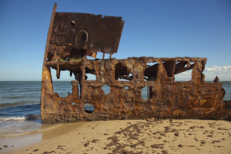 Ośniedziały Stalowy Shipwreck Textured powierzchnia obraz stock