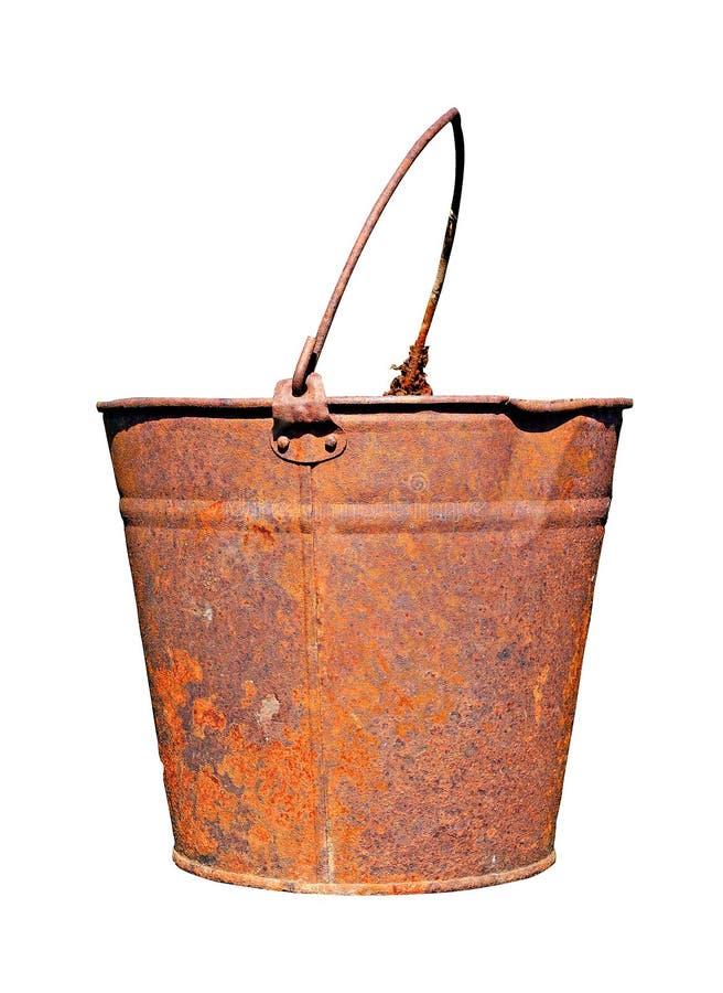 ośniedziały stary pail obrazy royalty free
