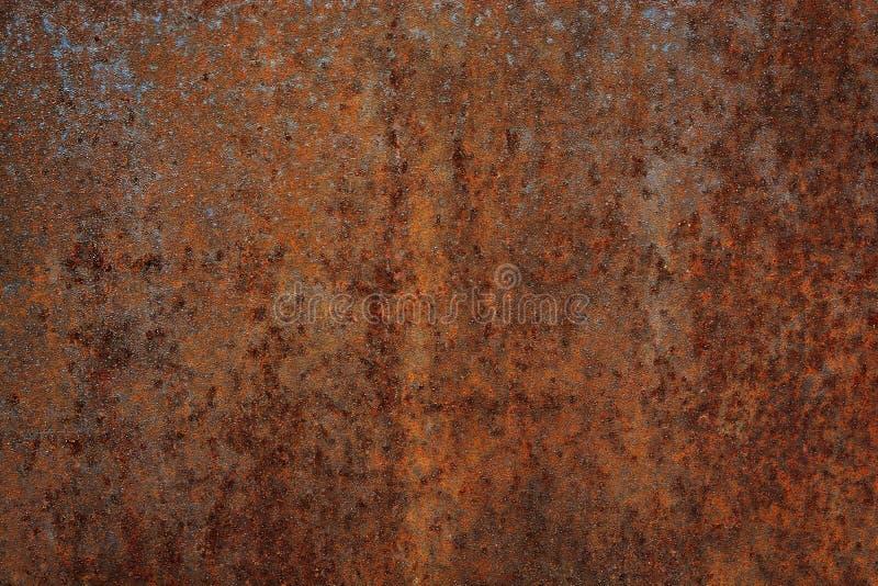 Ośniedziały stary szkotowego metalu tło, rdzy żelazna czerwień obrazy stock