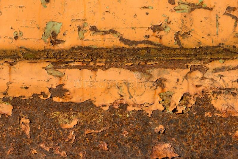 Ośniedziali narysy na pomarańcze malującej stali obrazy royalty free