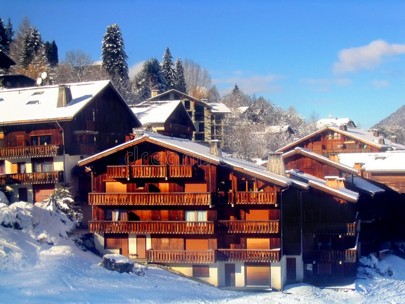 ośrodek na nartach france zdjęcie royalty free