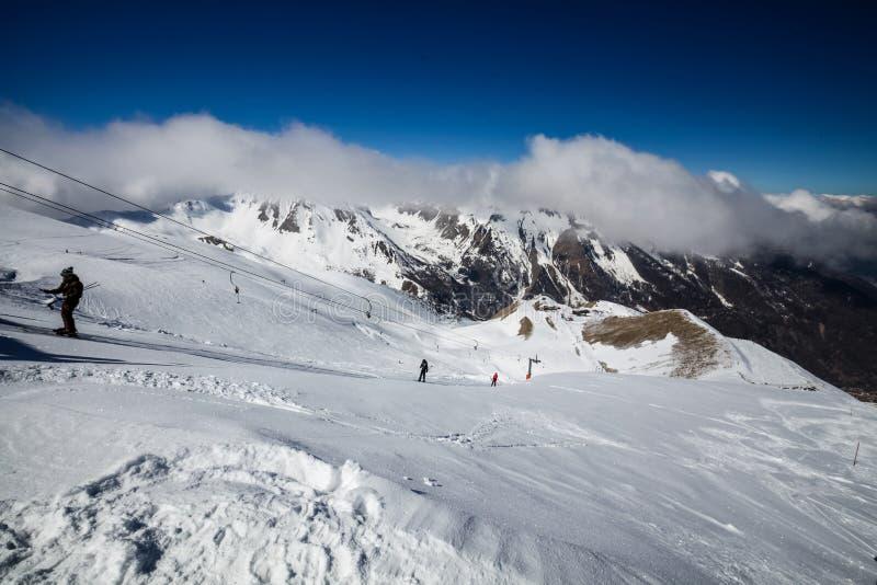 Ośrodek narciarski Les Orres, Hautes-Alpes, Francja obrazy stock