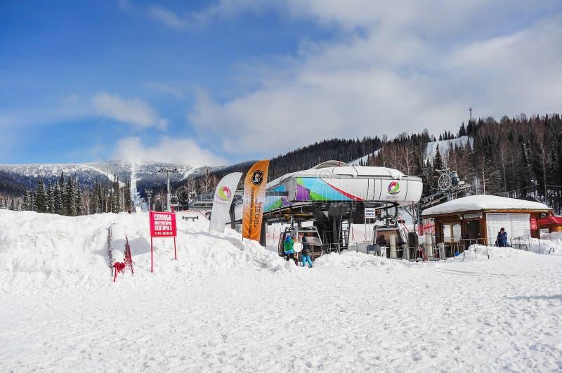 Ośrodek narciarski Sheregesh zdjęcia stock