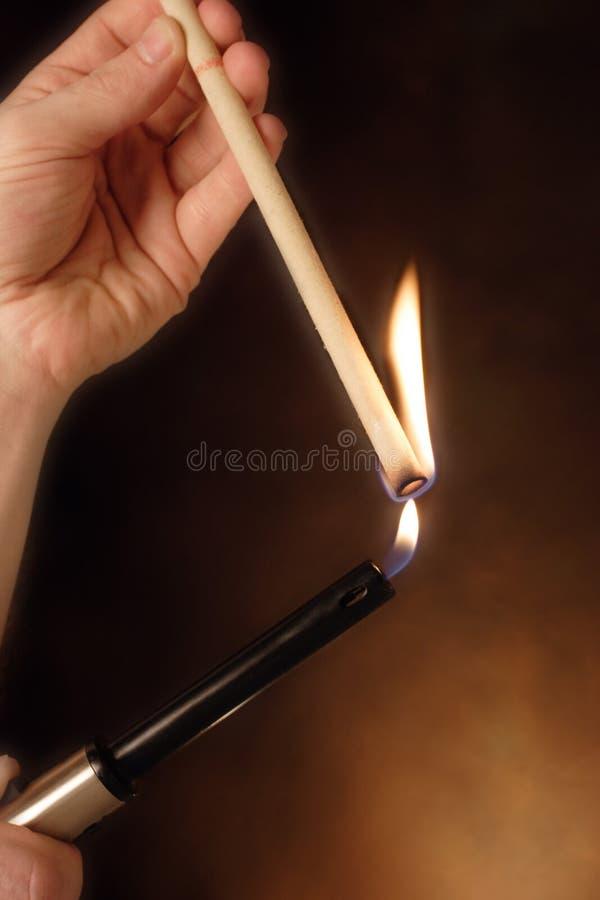 oświetlenie świeca uszy obraz stock