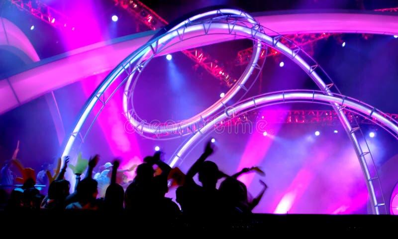 oświetlenie koncert zdjęcia stock