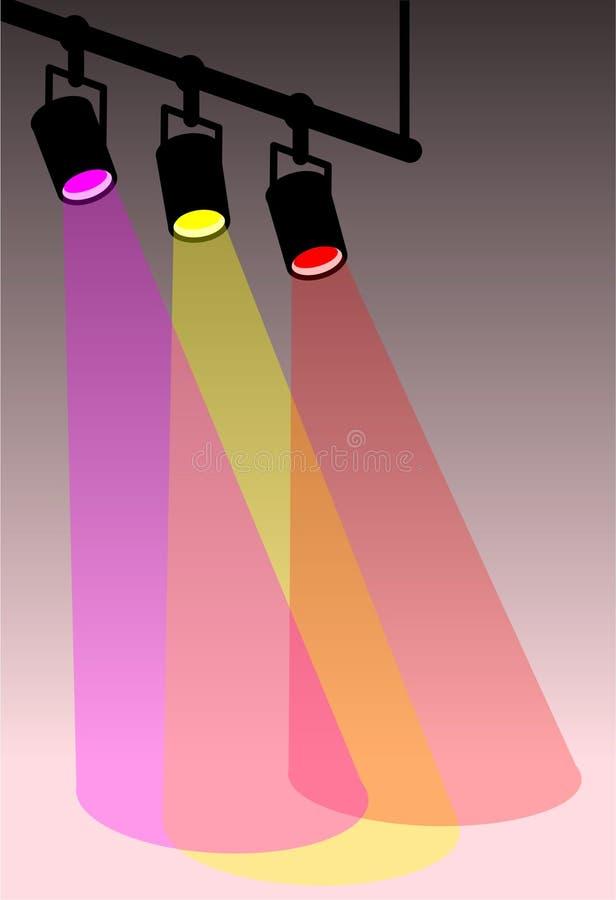 oświetlenie sceny kolorów ciepła royalty ilustracja