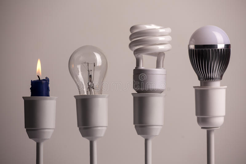 Oświetleniowa ewolucja ilustracji