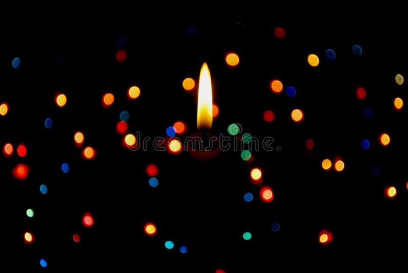 Oświetleniowa gwiazdowa świeczka fotografia royalty free