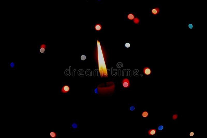 Oświetleniowa gwiazdowa świeczka zdjęcia stock