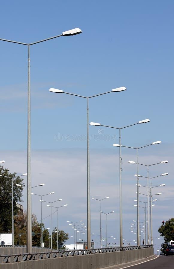 Oświetleniowi słupy zdjęcie stock