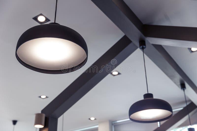 oświetleniowy wewnętrznego projekta dekoraci nowożytny domowy styl fotografia royalty free