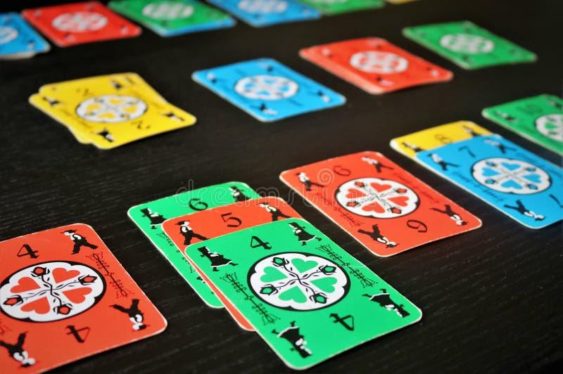 """o  de Blitz†do """"Dutch é bom jogo de cartas para a família fotos de stock royalty free"""