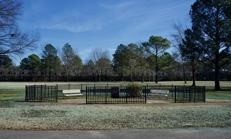 O «Brien Parkowy i Sceniczny teren, miasto Memphis służba leśna fotografia royalty free