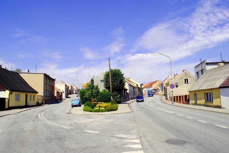 """O ³ w erkà de Å do"""" é uma cidade no condado de Jarocin, maior Polônia Voivodeship, Polônia imagem de stock"""