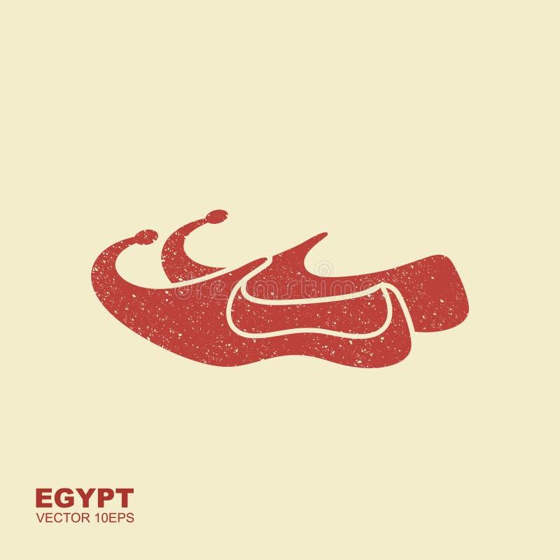 O árabe calça o ícone Ilustração lisa do ícone árabe do vetor das sapatas ilustração do vetor