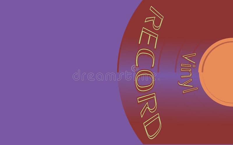 O áudio musical é um registro de vinil retro da antiguidade do moderno do vintage velho e um registro de vinil da inscrição Ilust ilustração do vetor