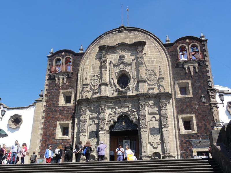 """O †""""México de Nosso-Senhora--Guadalupe da basílica imagem de stock"""