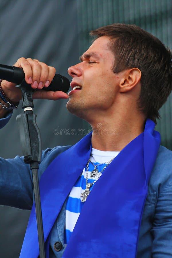 """O †de Stanislav Piatrasovich Piekha (Stas Piekha)"""" é um cantor e um ator popular do russo, e o neto de Edita Piekha fotos de stock"""