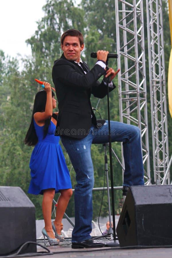 """O †de Stanislav Piatrasovich Piekha (Stas Piekha)"""" é um cantor e um ator popular do russo, e o neto de Edita Piekha fotografia de stock"""