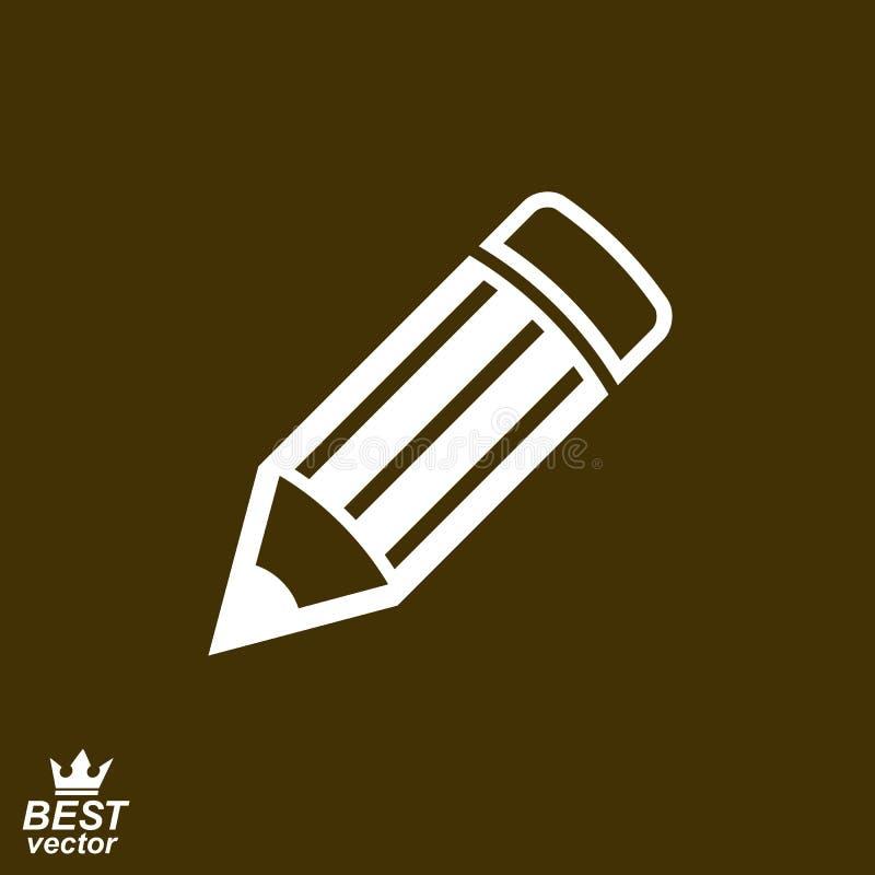 """O †do ícone do vetor da ideia da geometria """"detalhou o marrom edita o lápis Graphi ilustração royalty free"""