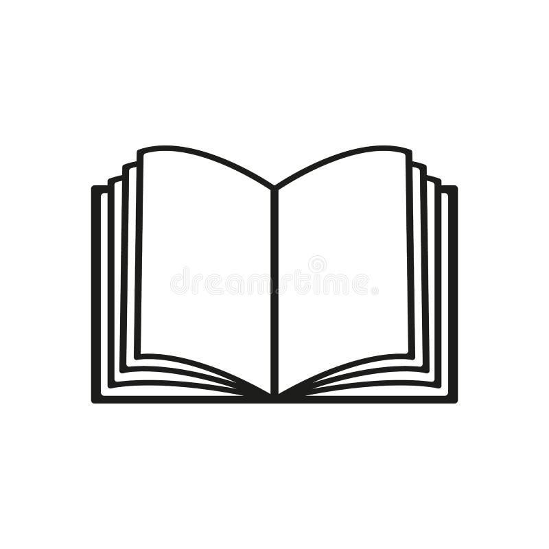O ícone aberto do livro Manual e tutorial, símbolo da instrução liso ilustração do vetor