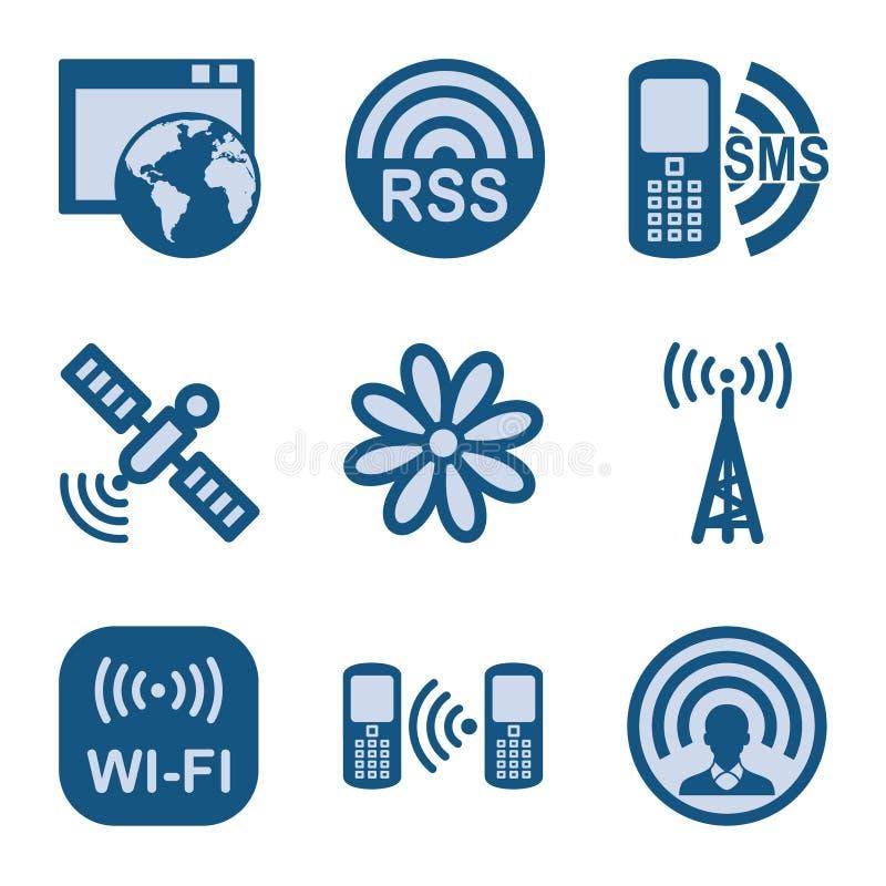 O ícone azul ajustou 30 ilustração royalty free