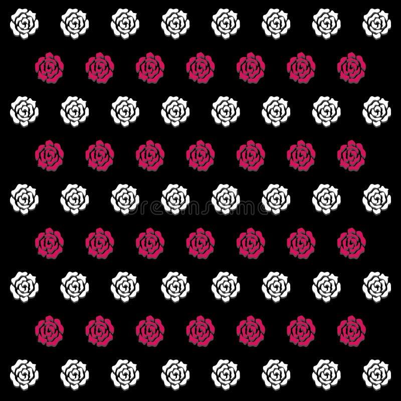 O ícone branco e cor-de-rosa de Rose Pattern Background grande para alguns usa-se Vetor eps10 ilustração royalty free