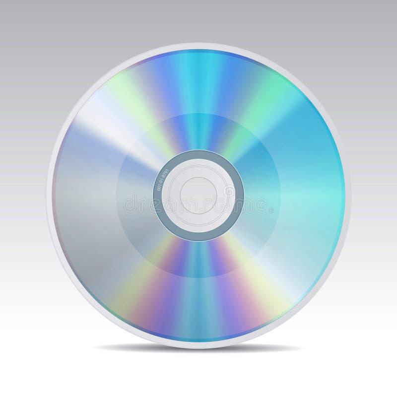 O ícone CD ajustou 1 ilustração royalty free