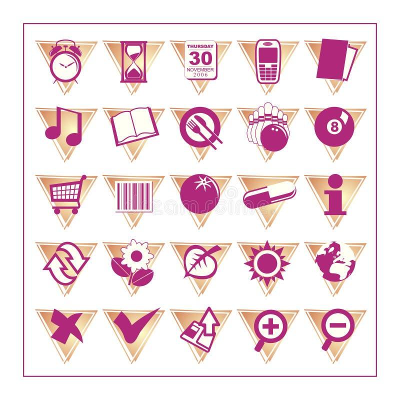 O ícone colorido ajustou 2 - Version3 ilustração stock