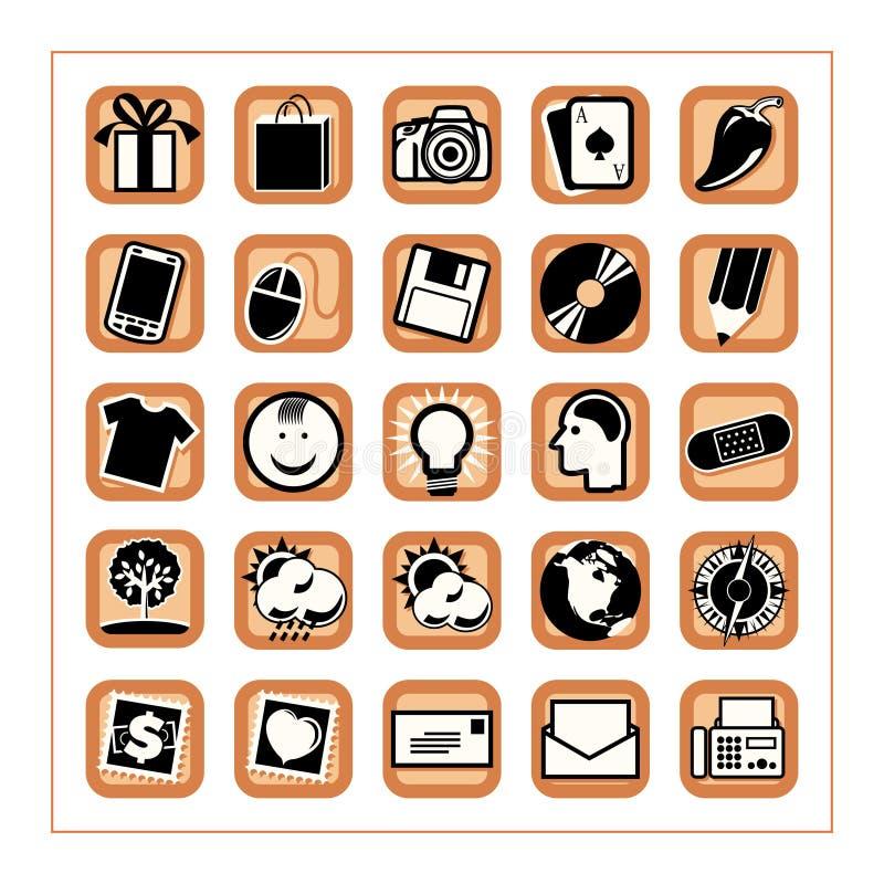 O ícone colorido ajustou 3 - Version5 ilustração do vetor
