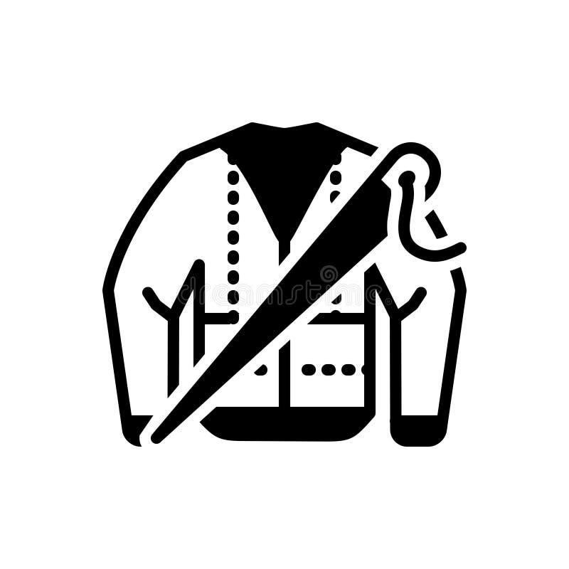 O ícone contínuo preto para Bespoke, forma e veste-se ilustração do vetor
