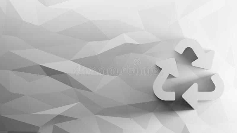 o ícone 3d de recicla o símbolo ilustração do vetor