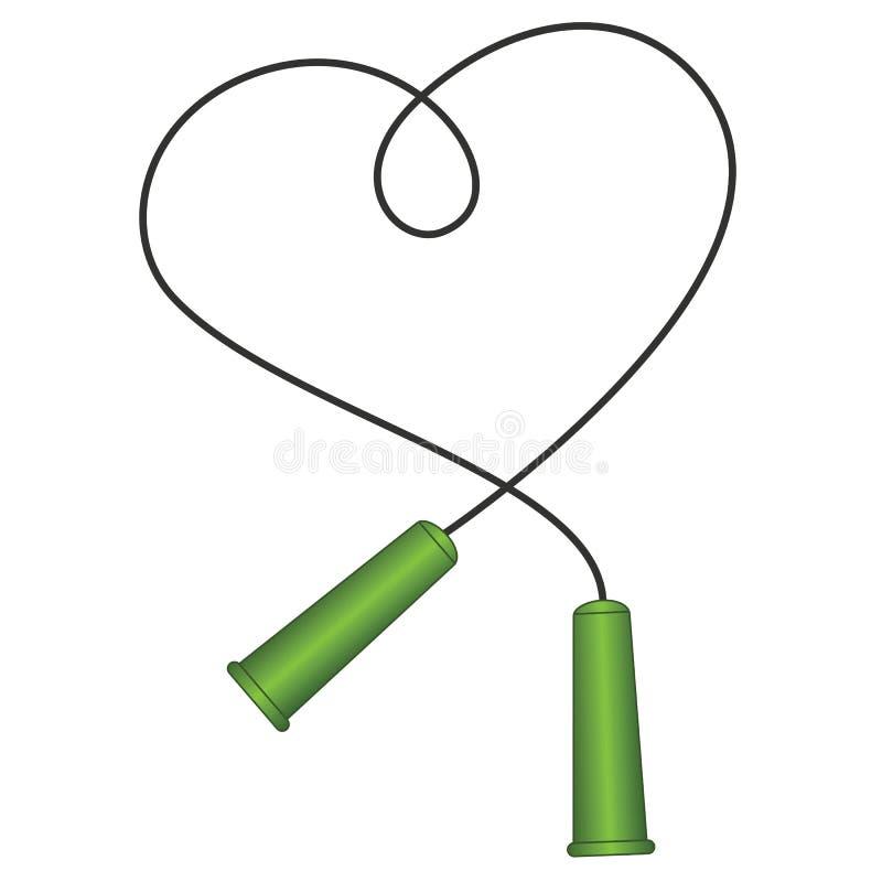 O ícone da corda de salto, símbolo da corda de salto, linha fina estilo liso Vetor, ilustração ilustração royalty free