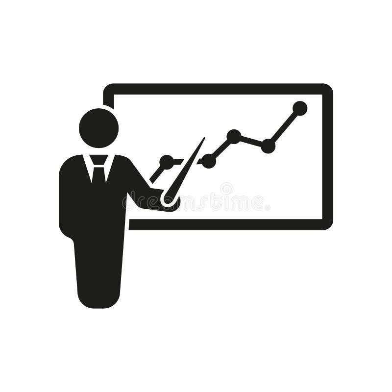 O ícone da formação do pessoal Apresentação e leituras, apresentações, oficinas, símbolo do seminário Ui web logo sinal liso ilustração do vetor