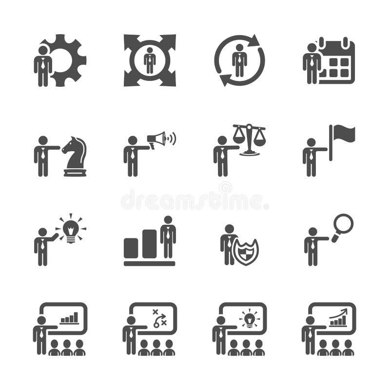 O ícone da gestão de recursos humanos ajustou 3, vetor eps10 ilustração royalty free
