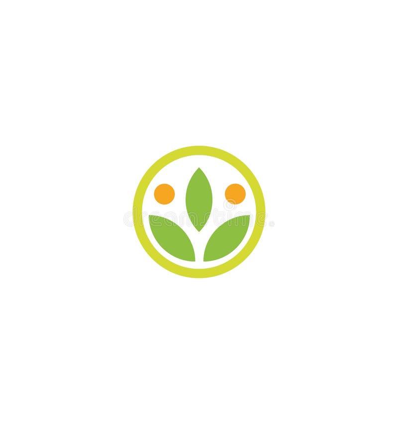 O ícone da grão do vetor do trigo isolou o logotipo redondo da orelha alaranjada abstrata do trigo da cor Logotype do elemento da ilustração stock
