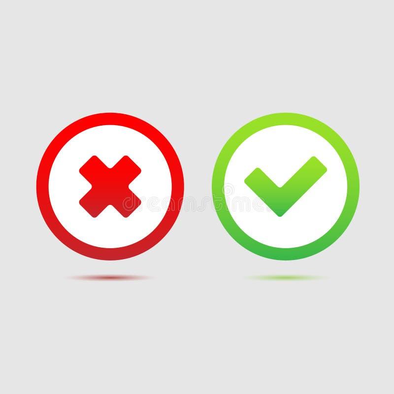 O ícone da marca de verificação grande para alguns usa-se Vetor eps10 ilustração do vetor