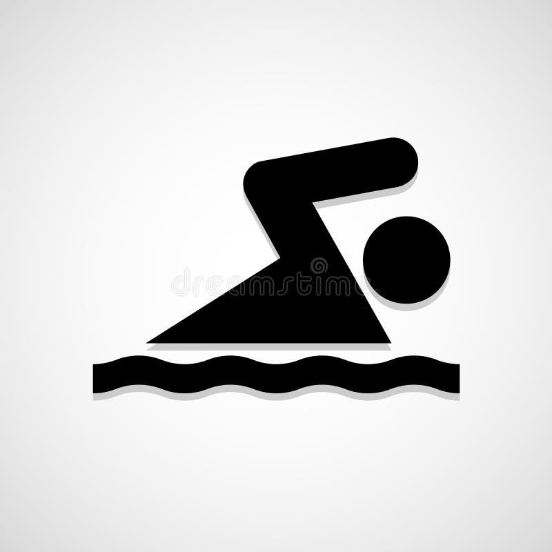 O ícone da natação grande para alguns usa-se Vetor eps10 ilustração stock