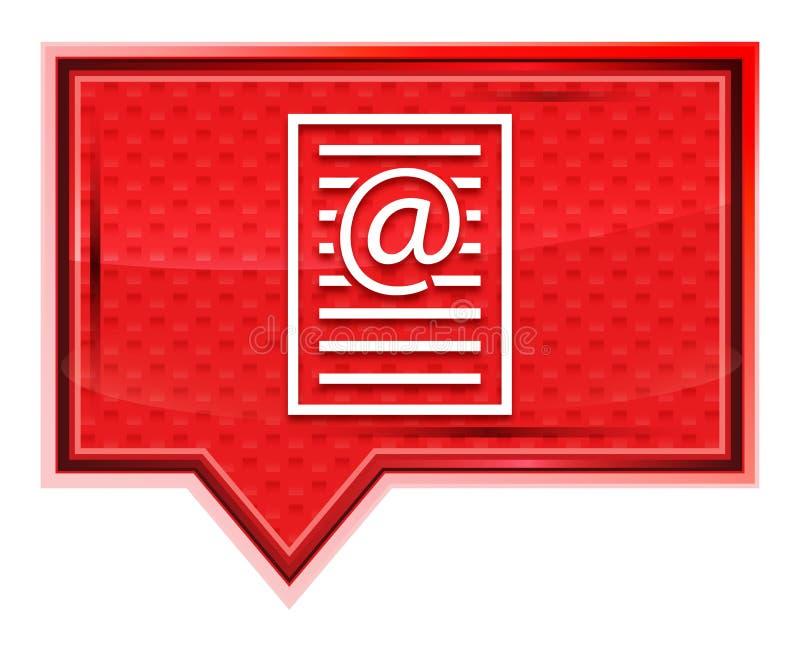 O ícone da página do endereço email enevoado aumentou botão cor-de-rosa da bandeira ilustração royalty free