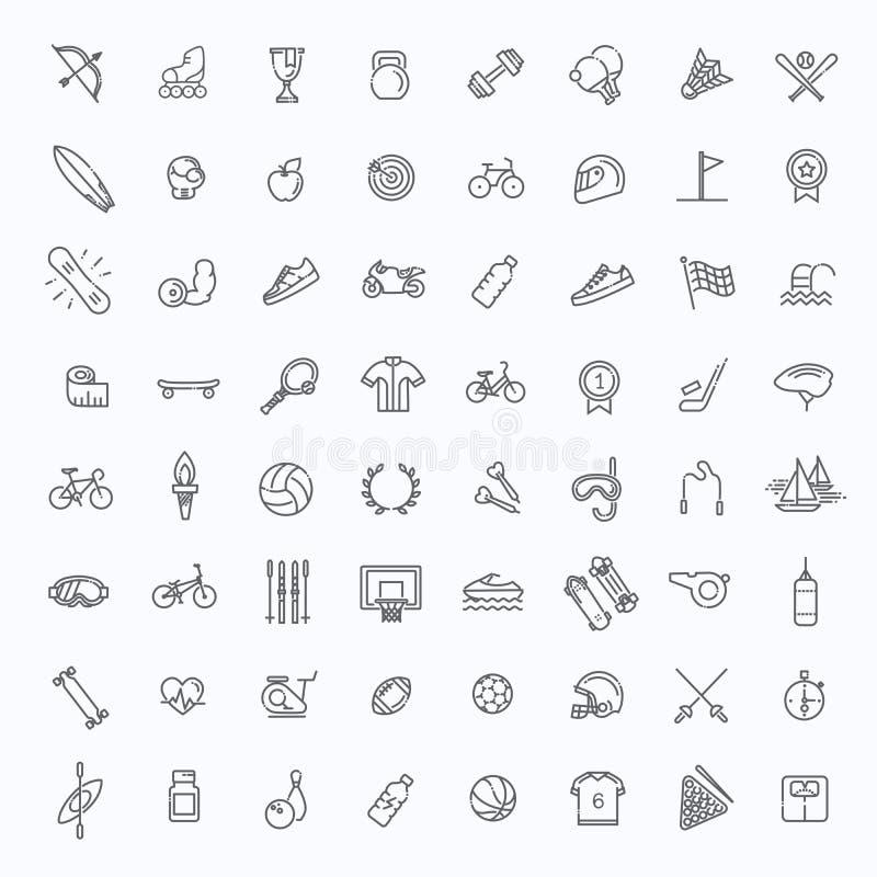 O ícone da Web do esboço ajustou-se - esporte e aptidão ilustração do vetor
