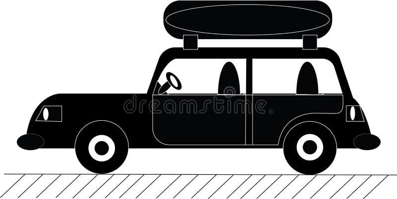 O ícone de imagem do carro com o tronco ilustração stock