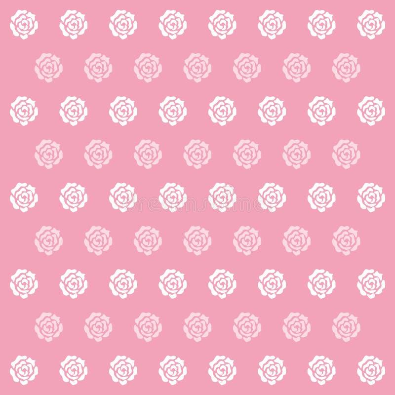 O ícone de Rose Pink Pattern Background grande para alguns usa-se Vetor eps10 ilustração stock