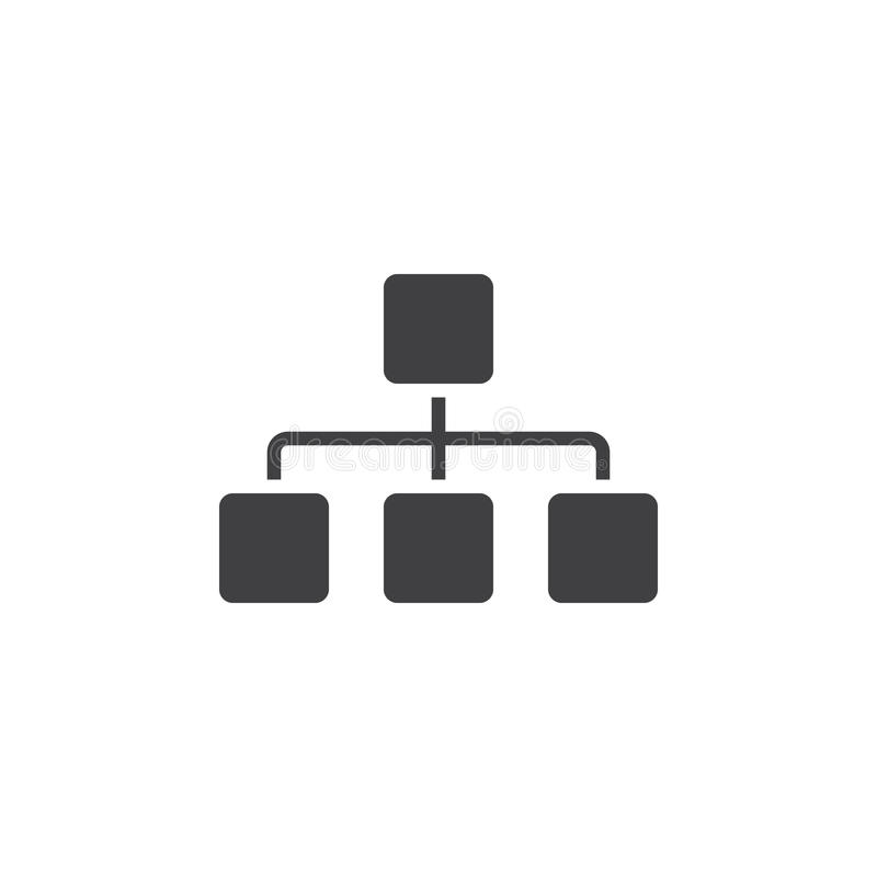 O ícone de Sitemap, faz um mapa da ilustração contínua do logotipo, pictograma é ilustração do vetor