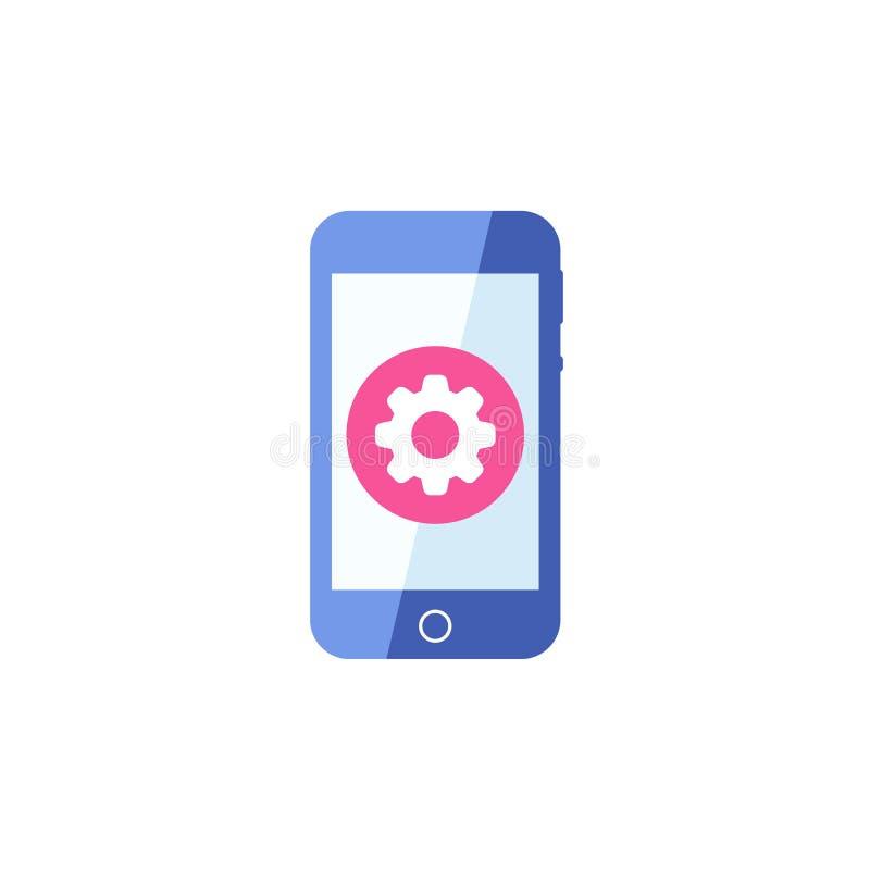O ícone de Smartphone, telefone celular, ícone do handphone com ajustes assina O ícone de Smartphone e personaliza, setup, contro ilustração royalty free