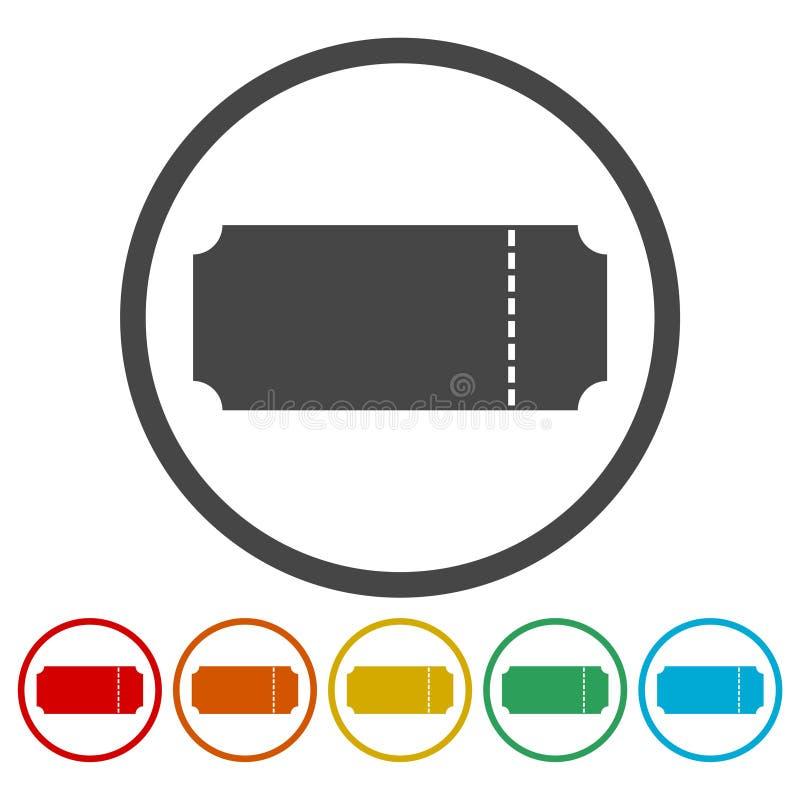 O ícone do bilhete, símbolo do bilhete ilustração do vetor