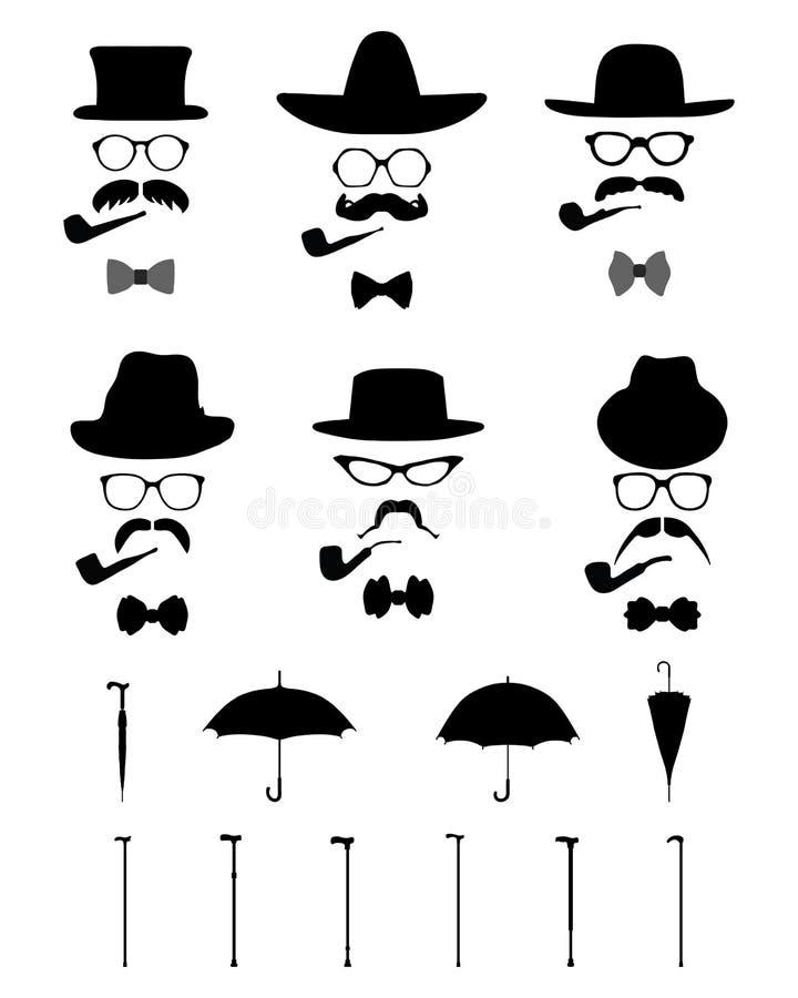 Download O ícone do cavalheiro ilustração stock. Ilustração de barbeiro - 65575032