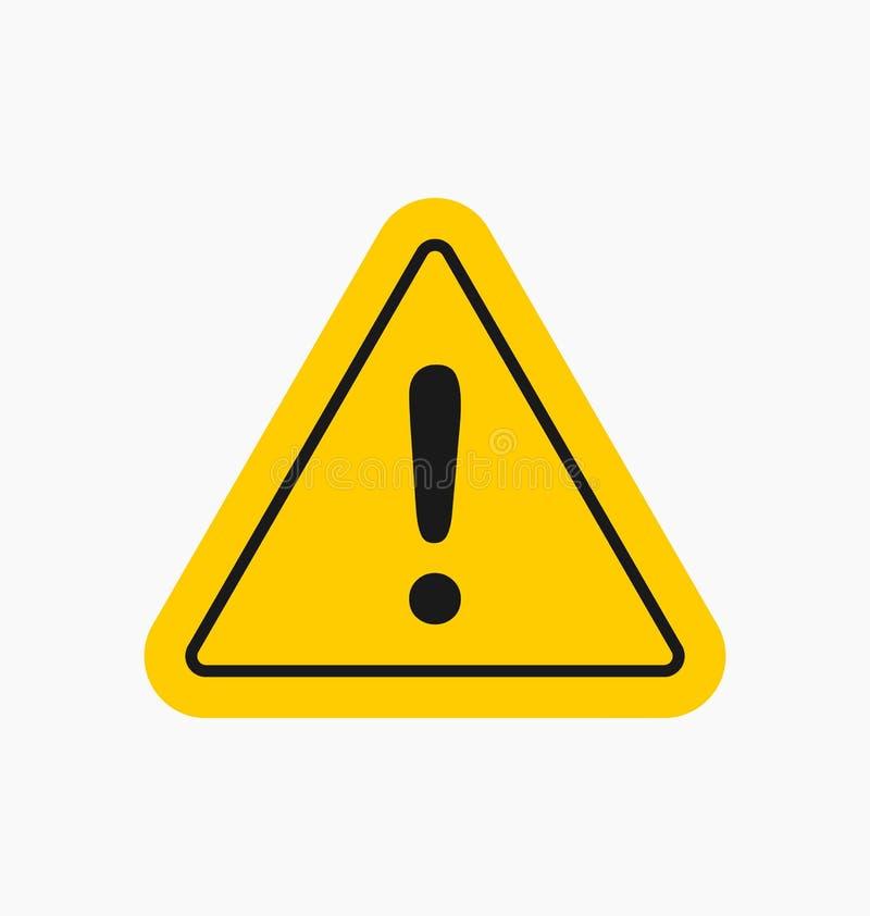 O ícone do cuidado/assina dentro o estilo liso isolado símbolo de advertência ilustração do vetor