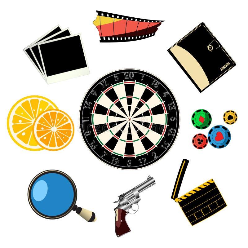 Ícones Do Curso E Dos Jogos Imagem de Stock Royalty Free